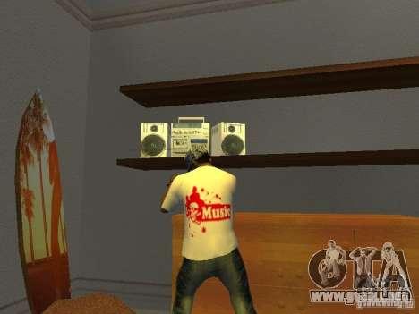 Camiseta tectónica para GTA San Andreas segunda pantalla
