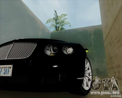 Bentley Continental GT V1.0 para GTA San Andreas vista hacia atrás