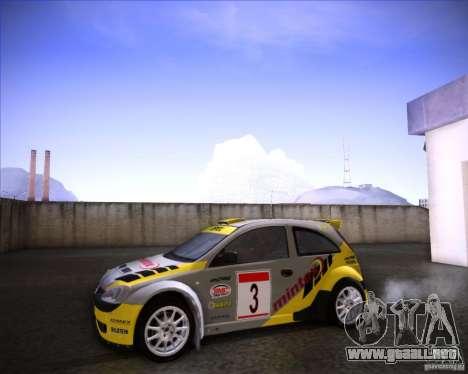Opel Corsa Super 1600 para la visión correcta GTA San Andreas