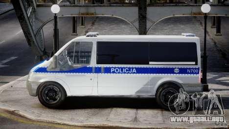 Ford Transit Polish Police [ELS] para GTA 4 left