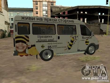 Gacela 32213 Beeline para GTA San Andreas left