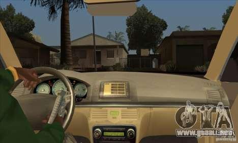 Lexus GS300 2003 para visión interna GTA San Andreas