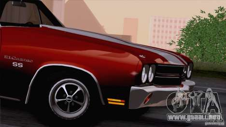 Chevrolet El Camino SS 70 Fixed Version para la visión correcta GTA San Andreas