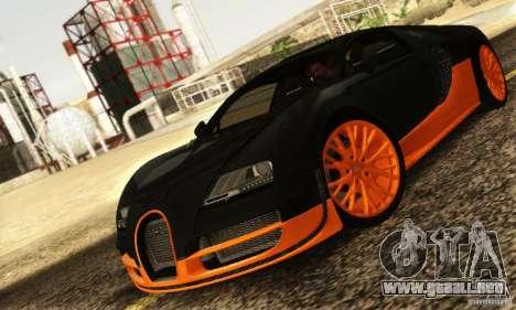 Bugatti Veyron SuperSport para GTA San Andreas left