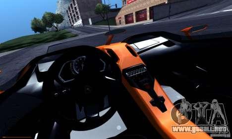 Lamborghini Aventador J para la vista superior GTA San Andreas