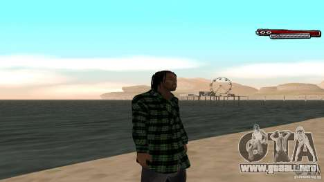 New skin Grove HD para GTA San Andreas sucesivamente de pantalla