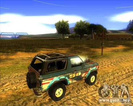 Blazer XL FlatOut2 para GTA San Andreas vista hacia atrás