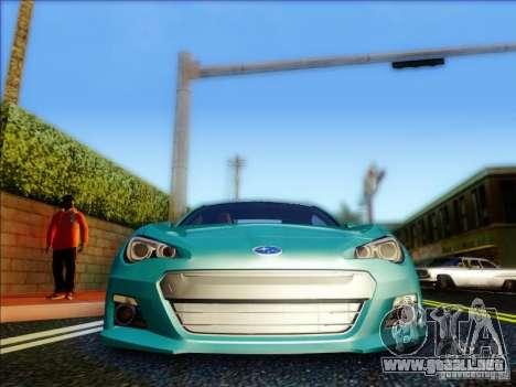 Subaru BRZ S 2012 para visión interna GTA San Andreas