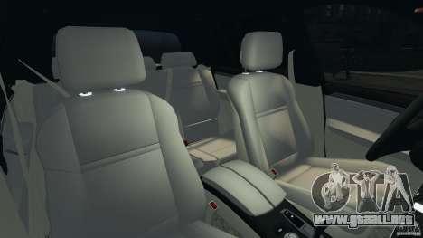 BMW X5 xDrive35d para GTA 4 vista interior