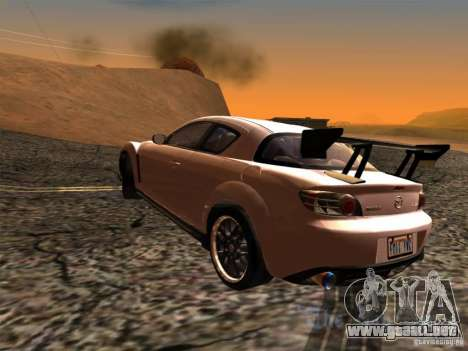 Mazda RX-8 Varis Custom para GTA San Andreas left