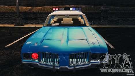Oldsmobile Vista Cruiser 1972 Police v1.0 [ELS] para GTA 4 ruedas