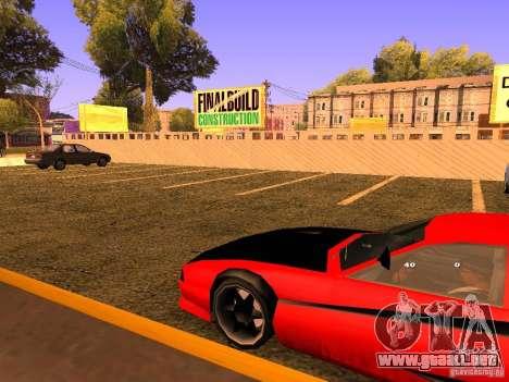 New Cheetah para GTA San Andreas vista hacia atrás