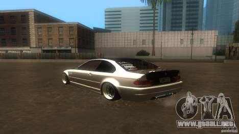 BMW E46 M3 Coupe 2004M para la visión correcta GTA San Andreas
