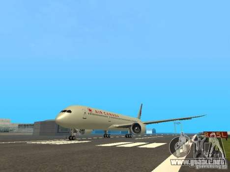 Boeing 787 Dreamliner Air Canada para GTA San Andreas