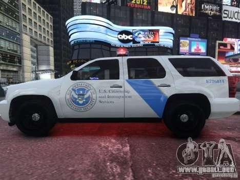 Chevrolet Tahoe Homeland Security para GTA 4 left