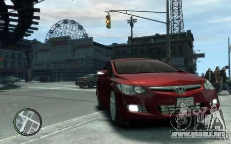 Honda Civic 2006 para GTA 4 vista hacia atrás