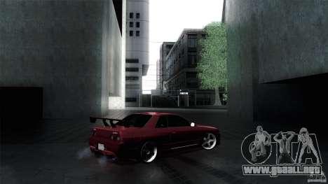 Nissan Skyline GT-R32 para GTA San Andreas vista hacia atrás