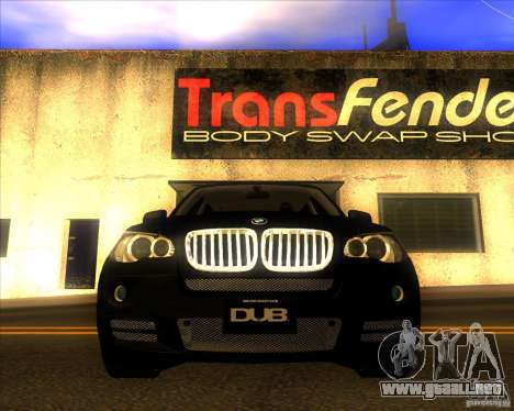 BMW X5 dubstore para vista inferior GTA San Andreas