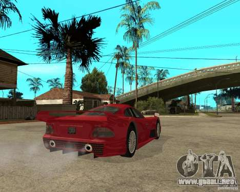Mercedes-Benz CLK GTR road version para GTA San Andreas vista posterior izquierda