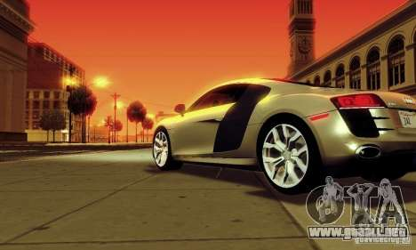 Audi R8 5.2 FSI Quattro para GTA San Andreas left