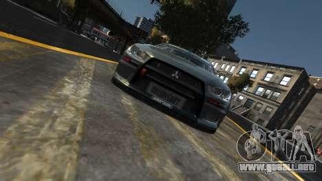 Mitsubishi Lancer Evolution para GTA 4 visión correcta