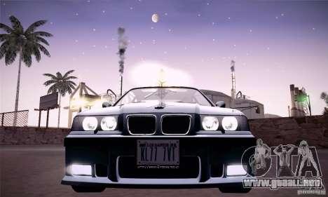 BMW E36 M3 Coupe - Stock para GTA San Andreas vista hacia atrás
