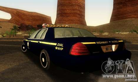 Ford Crown Victoria Nevada Police para GTA San Andreas left