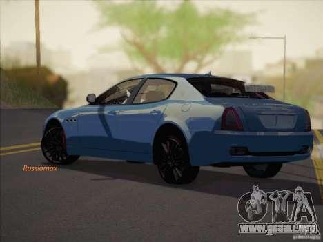 Maserati Quattroporte v3.0 para GTA San Andreas left