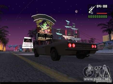 Cielo estrellado v2.0 (para SA: MP) para GTA San Andreas sucesivamente de pantalla