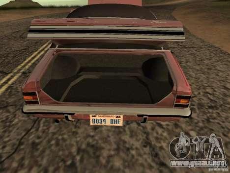 Ford Cortina MK 3 2000E para la visión correcta GTA San Andreas