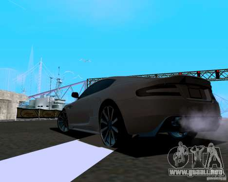 Aston Martin DBS para GTA San Andreas vista posterior izquierda