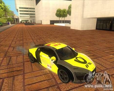 Audi R8 2007 para la visión correcta GTA San Andreas