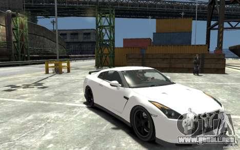 Nissan GT-R R35 Final para GTA 4 vista hacia atrás