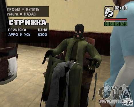 Ropa de un acosador para GTA San Andreas octavo de pantalla