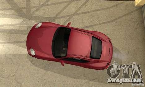 Porsche Cayman S para vista lateral GTA San Andreas