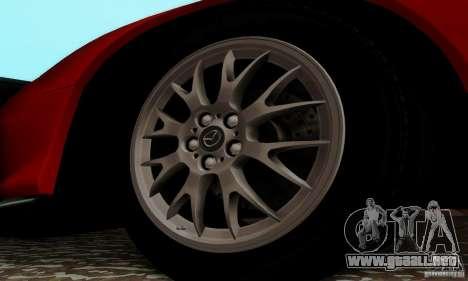 Mazda RX-7 para GTA San Andreas vista hacia atrás