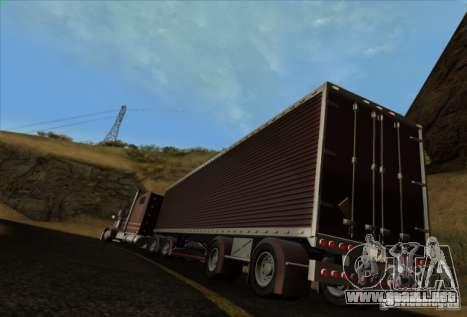 Freightliner Classic XL Custom para GTA San Andreas vista hacia atrás