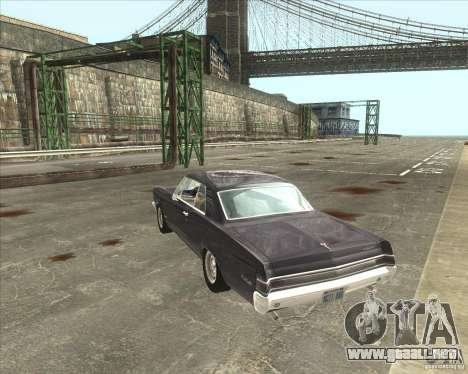 Pontiac GTO 1965 para visión interna GTA San Andreas