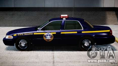 Ford Crown Victoria New York State Patrol [ELS] para GTA 4 Vista posterior izquierda