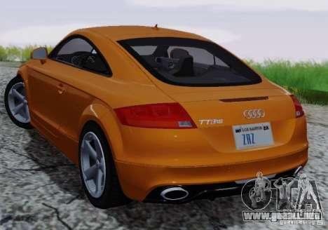 Audi TT-RS Coupe para la vista superior GTA San Andreas