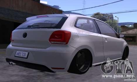 Volkswagen Polo GTI Stanced para visión interna GTA San Andreas