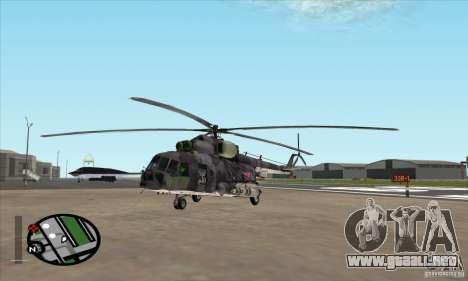 Camo gris MI-8 para GTA San Andreas left