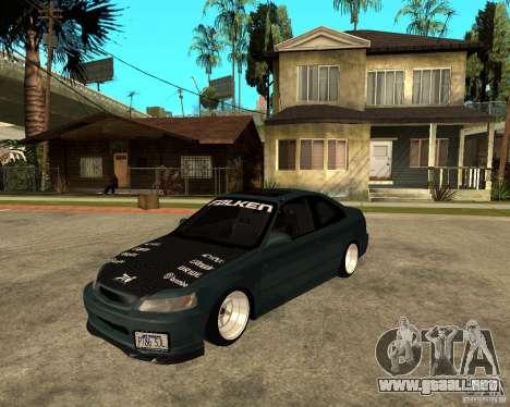 Honda Civic Coupe V-Tech para GTA San Andreas