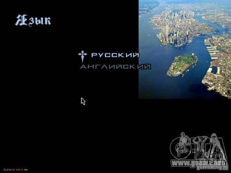 Nuevo menú al estilo de Nueva York para GTA San Andreas sexta pantalla