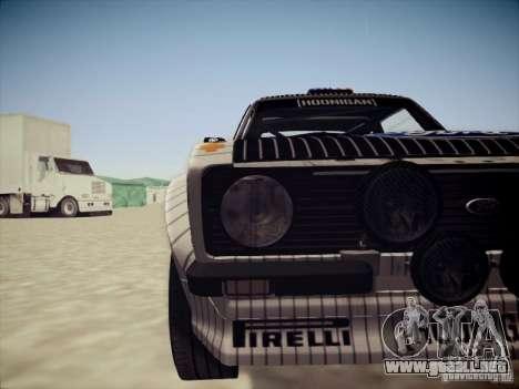 Ford Escort MK2 Gymkhana para visión interna GTA San Andreas