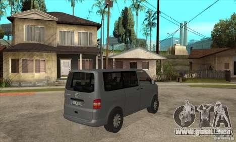 Volkswagen Transporter T5 TDI para la visión correcta GTA San Andreas