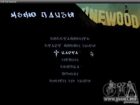 La fuente del NFS MW V2 para GTA San Andreas quinta pantalla