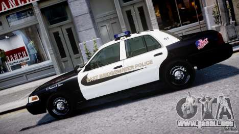 Ford Crown Victoria Massachusetts Police [ELS] para GTA 4 left