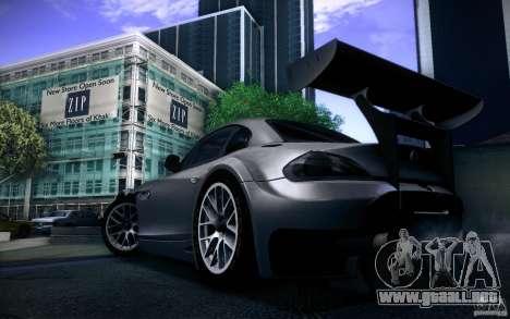 BMW Z4 E89 GT3 2010 para GTA San Andreas vista hacia atrás