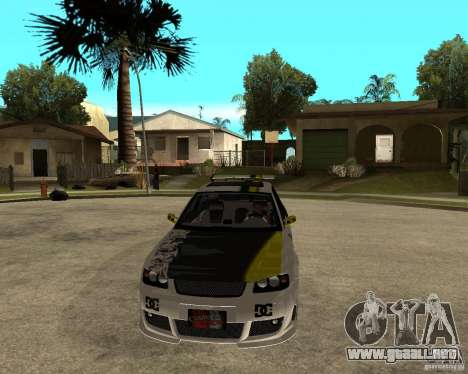Audi S3 Monster Energy para GTA San Andreas vista hacia atrás
